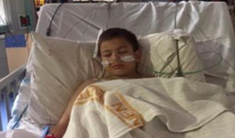ابوالفضل نه ساله به دلیل مشکل قلبی بستری شده است.
