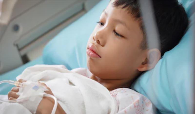 محمدجواد ششسالهبه دلیلتورم اندامها بستری شده است.